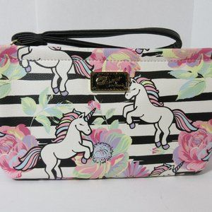 Luv Betsey Johnson Unicorn Flower Wristlet Purse